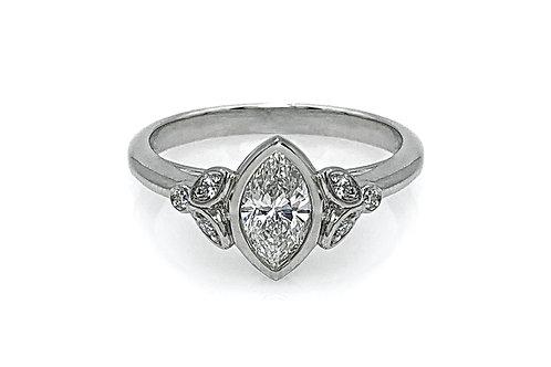14KW Marquise Diamond Ring