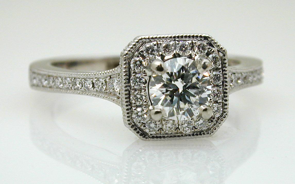 Diamond Halo with .41 carat Center