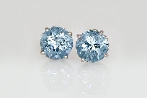 14KW Aquamarine Stud Earrings