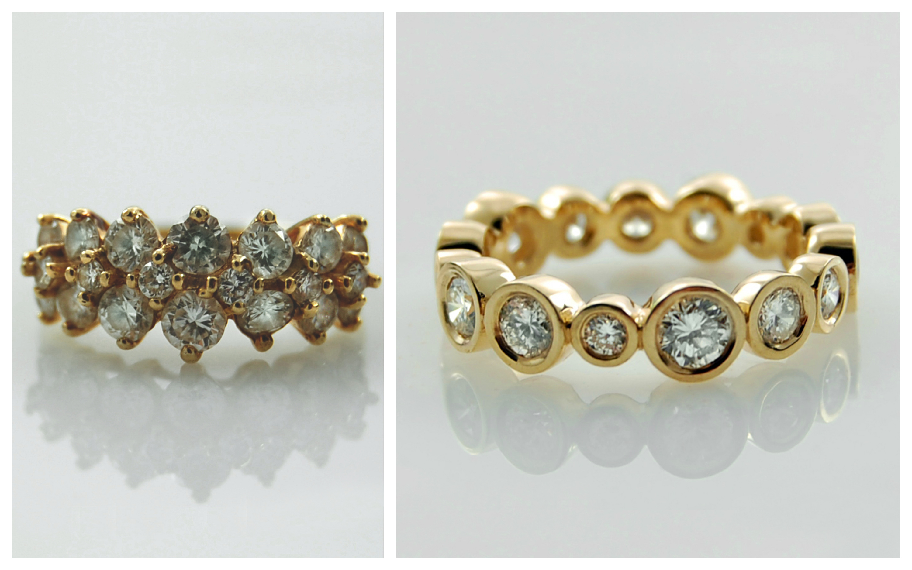 Yellow Gold Bezel Set Diamond Eternity B&A
