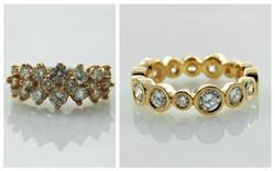 Yellow Gold Bezel Set Diamond Eternity B&A