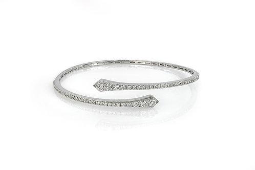 18KW Graduated Diamond Bypass Bracelet