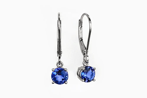 14KW Tanzanite Leverback Earrings