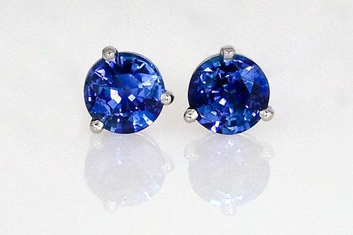 14KW Round Sapphire Studs