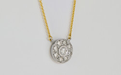 14K White and Yellow Bezel and Bead Set