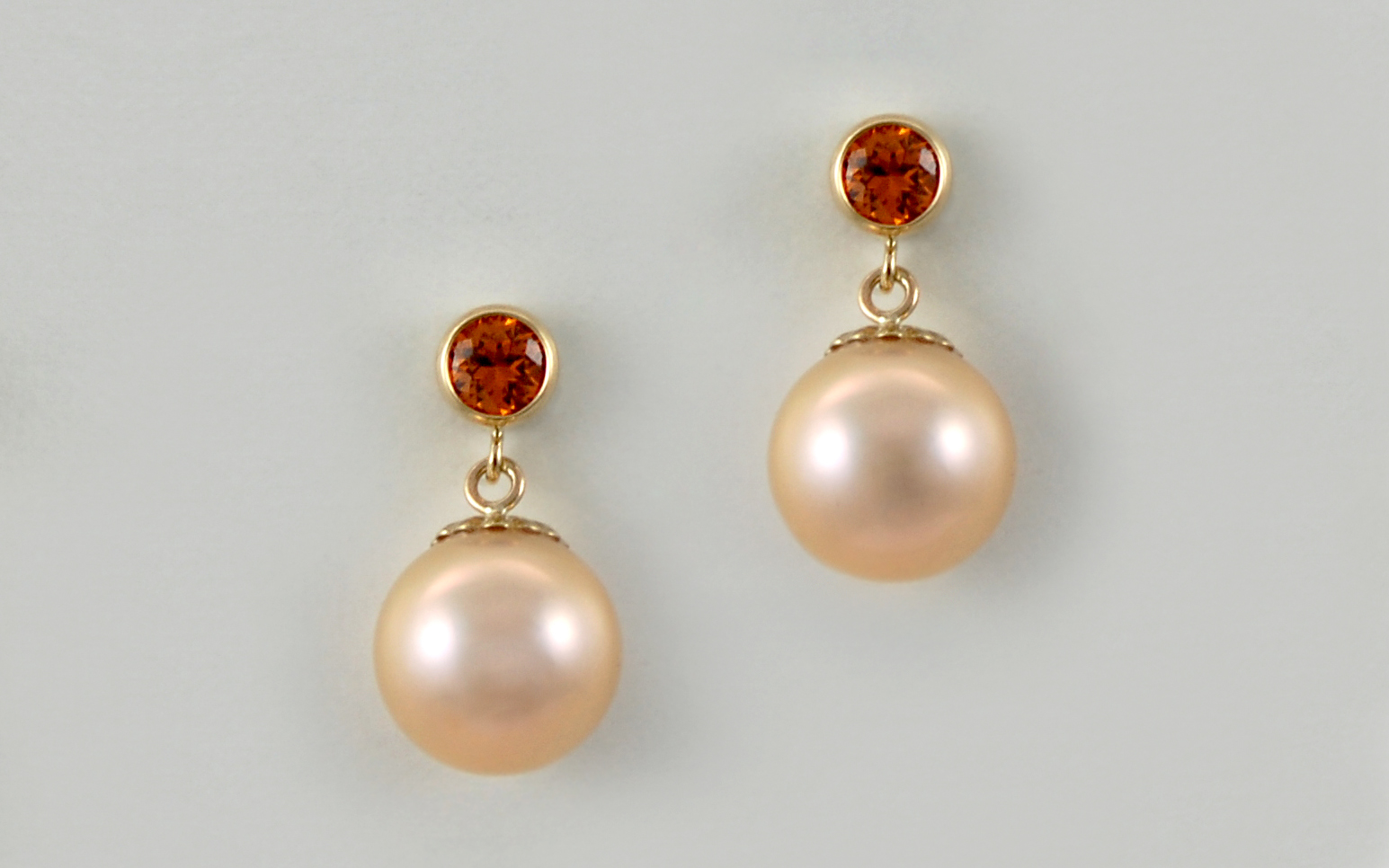 South Sea Pearl & Spessartite Garnet
