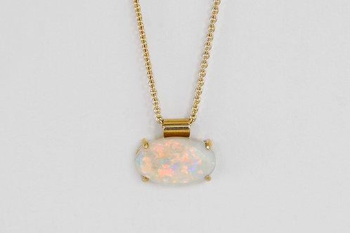 14KY Oval Opal Pendant
