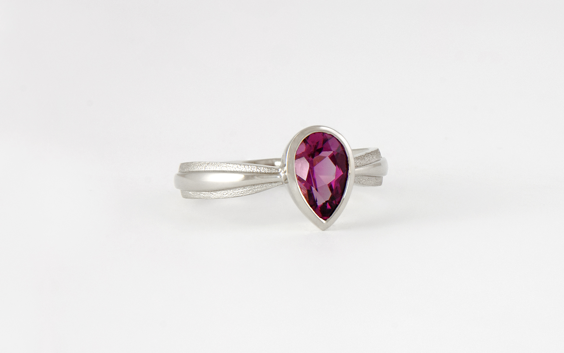 14KW Pink Tourmaline Ring