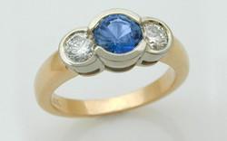 Two Tone Sapphire & Diamond Bezel