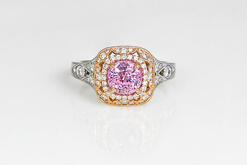 14KR/W Sylvie Ring with Pink Sapphire