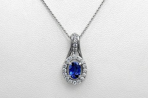 14KW Sapphire and Diamond Pendant
