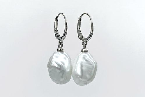 14KW Keshi Freshwater Pearl Earrings