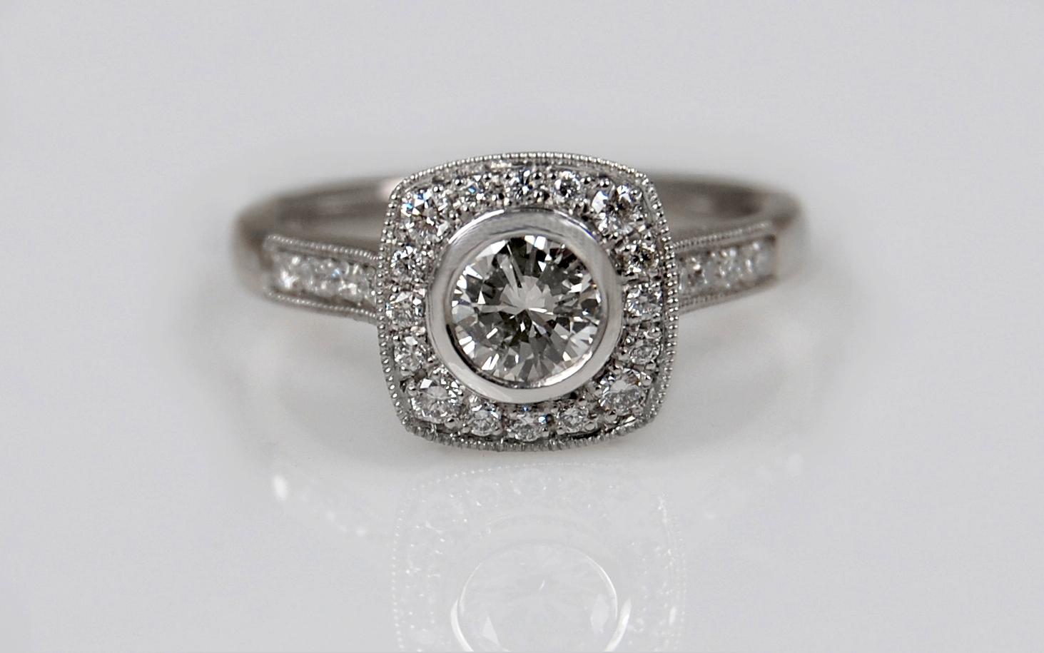 Diamond Halo with .48 carat Center