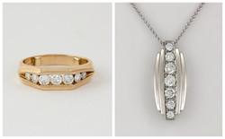 7 Stone Diamond Pendant B&A