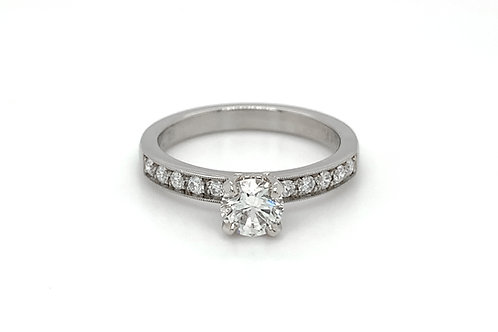 14KW Diamond Engagement Ring with Diamond Accents