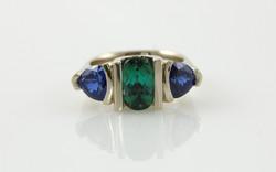 Tourmaline & Trillion Sapphires