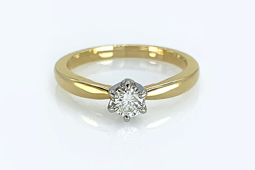 14KY/W Solstice Style Diamond Engagement Ring