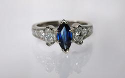 Marquise Sapphire & Diamond