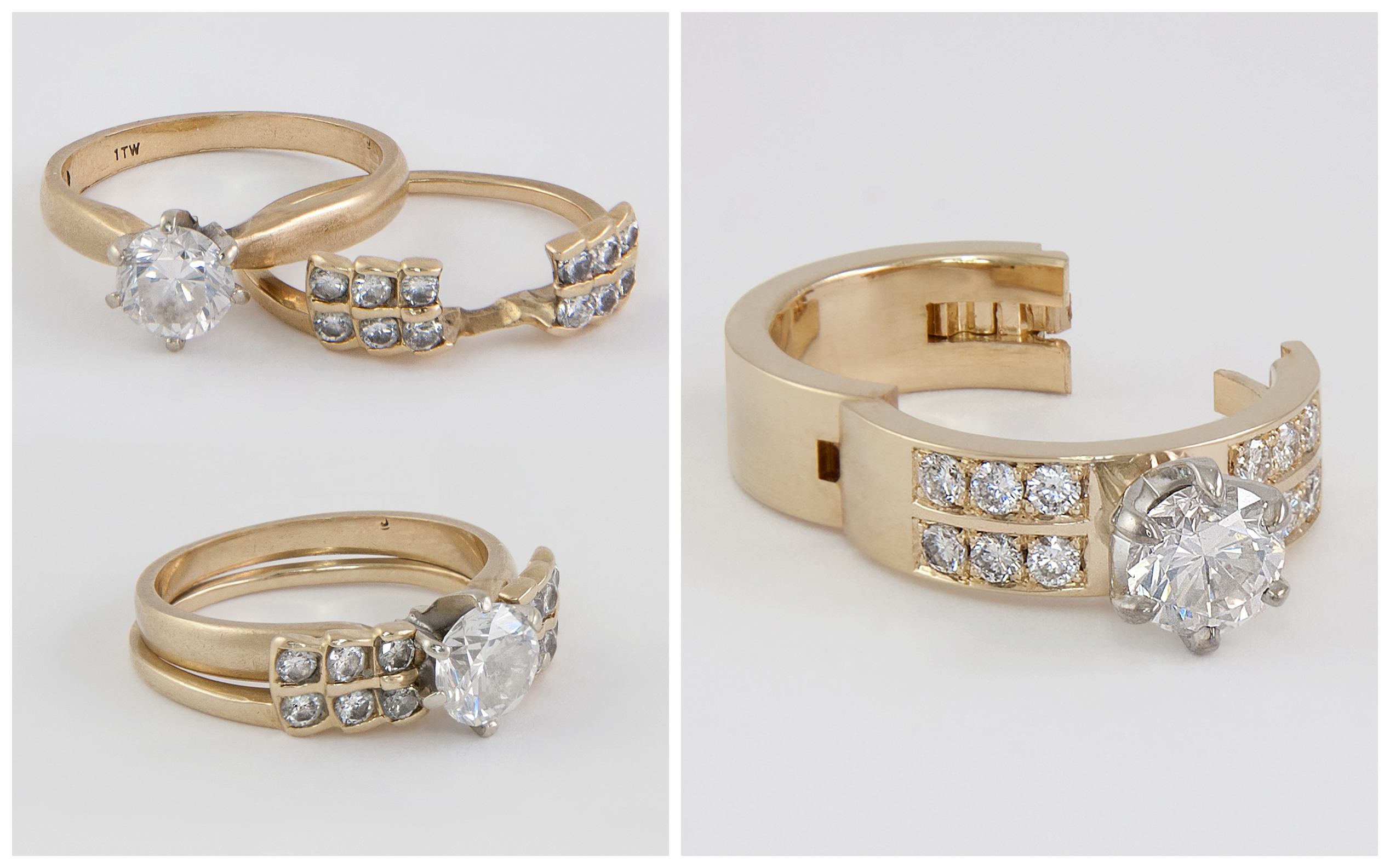 Custom 14K Diamond Ring Remount B&A