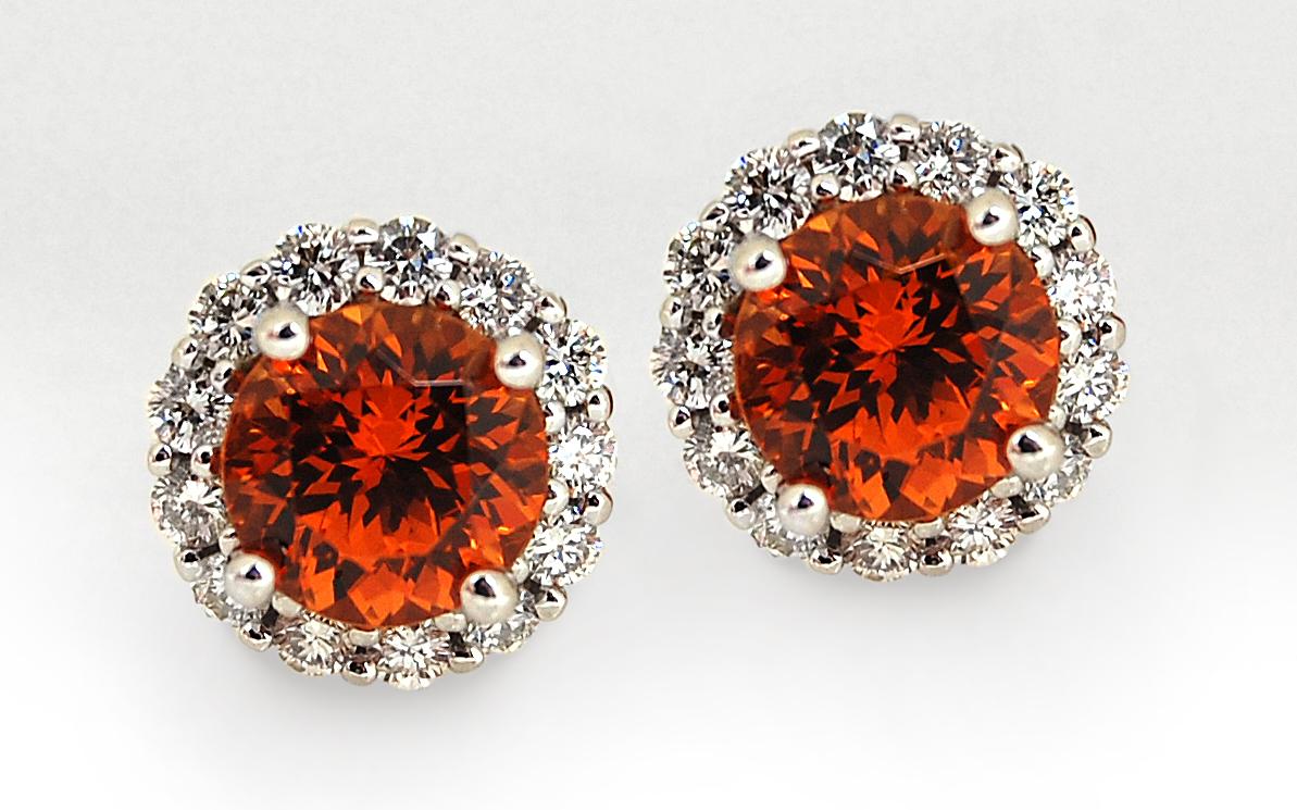 Spessartite Garnet and Diamond