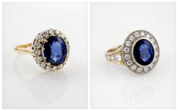 Diamond Halo Ring for Customers Sapphire B&A
