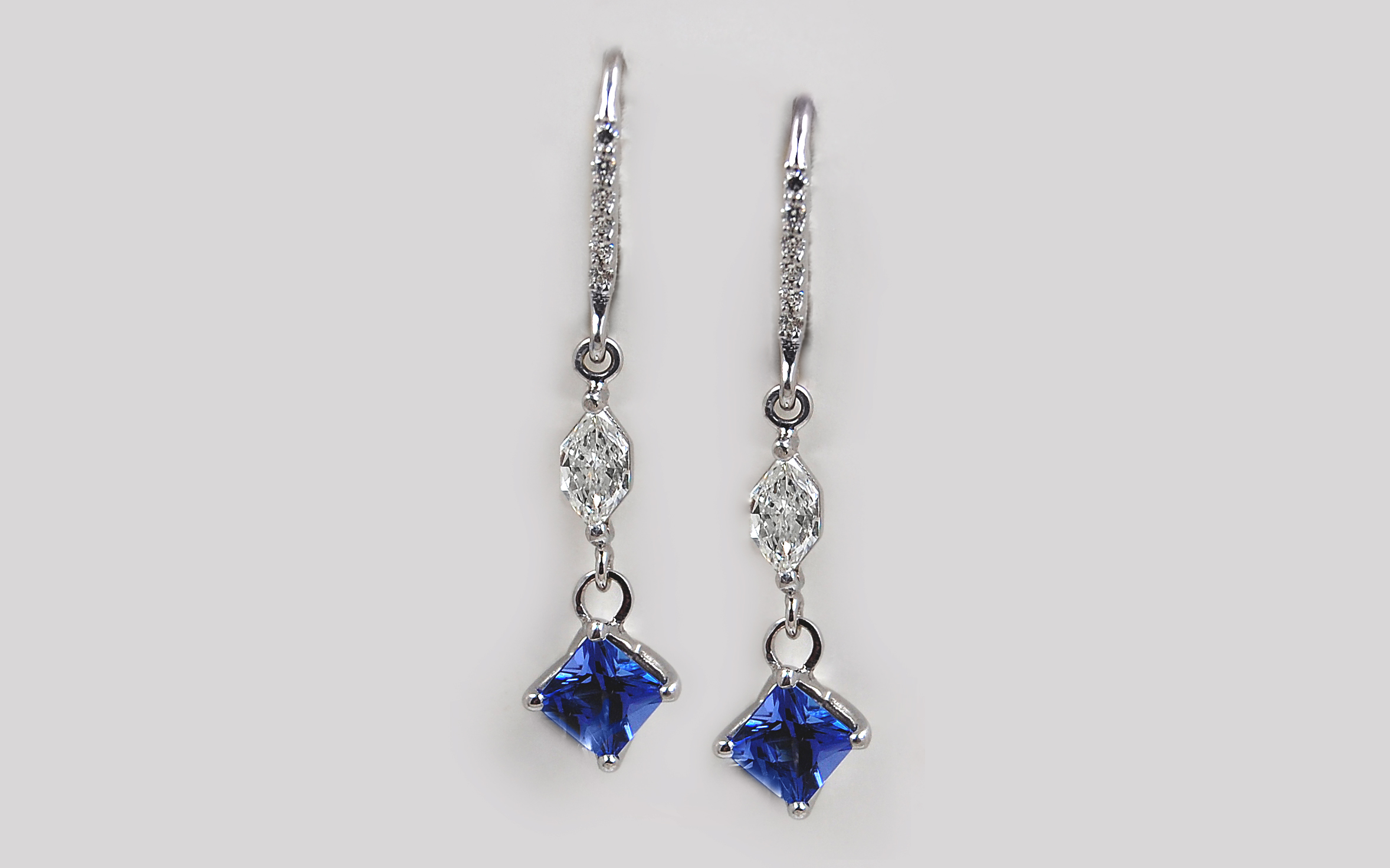 Tanzanite & Diamond Drop