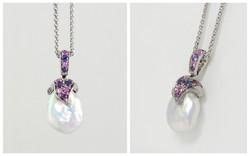 Souffle & Fancy Colored Sapphire Pendant