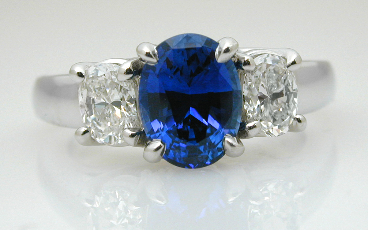 Oval Sapphire and Diamond