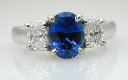 Oval Sapphire and Diamond