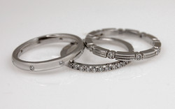 Platinum Diamond Stackable Bands