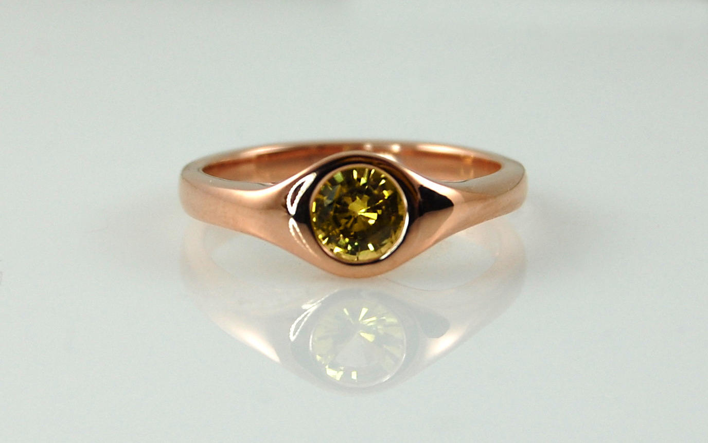 Rose Gold & Yellow Sapphire