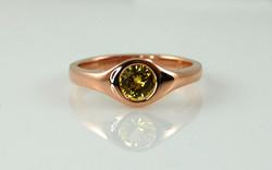 Rose Gold & Yellow Sapphire