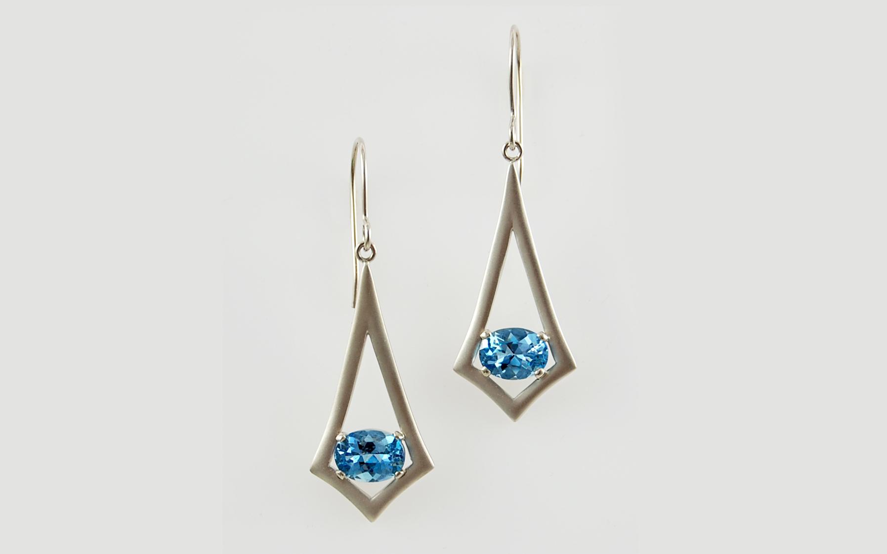 Oval Aquamarine Drops