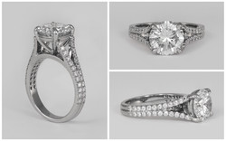 Custom Platinum Diamond Ring