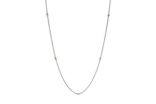 14KW Diamond Station Necklace