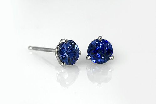 14KW Ceylon Sapphire Martini Stud Earrings