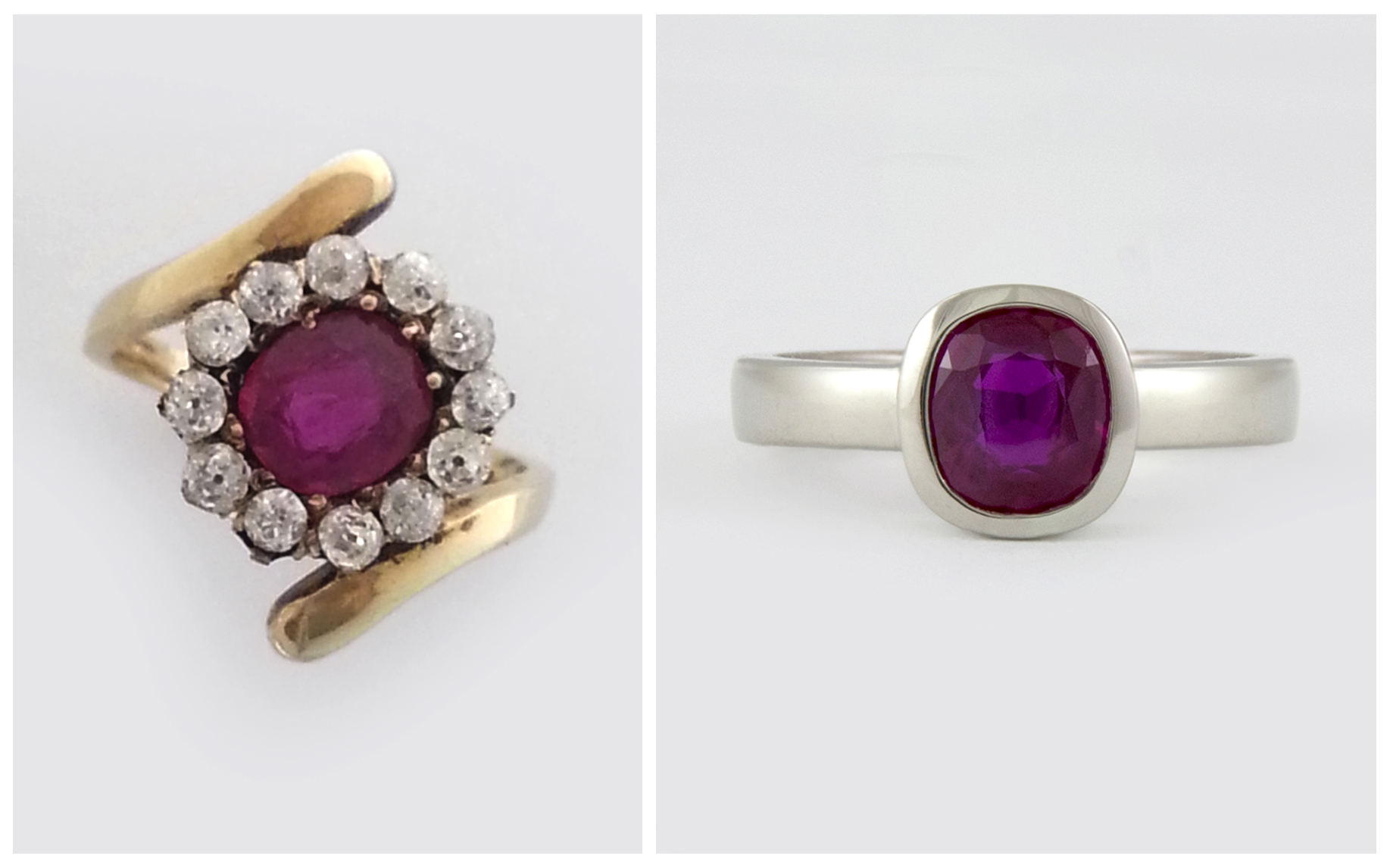 Cushion Cut Ruby B&A