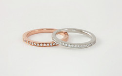 Rose Gold & Platinum Diamond Bands