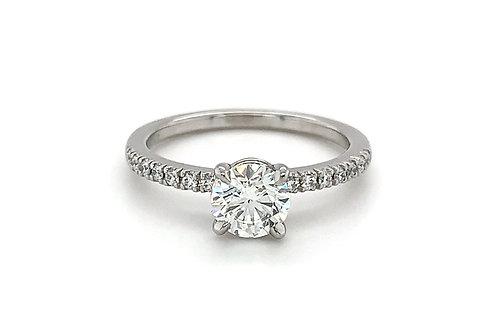 Platinum Hand Fabricated Engagement Ring