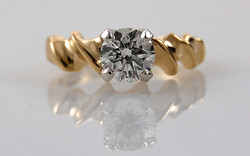 1 carat Solitaire with Fancy Band