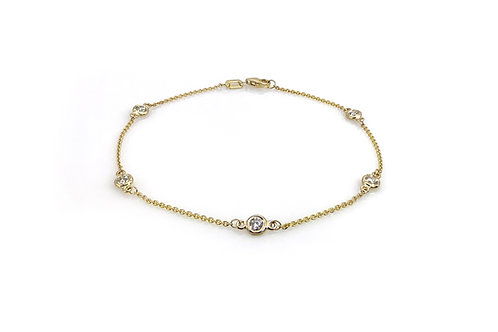 14KY Diamond Station Bracelet
