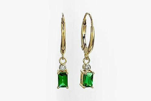 14KTT Tsavorite and Diamond Earrings