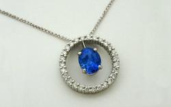 Oval Sapphire & Diamond Circle