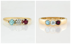 Three Stone Family Ring B&A