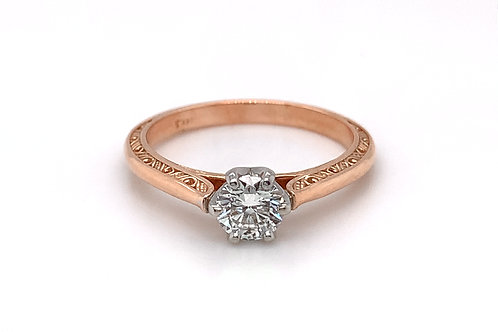 14KR/W Diamond Engagement Ring