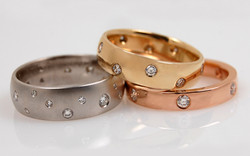 Flush Set Diamond Bands