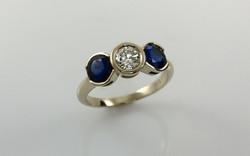 Diamond & Sapphire Bezel