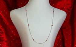 Garnet Station Necklace