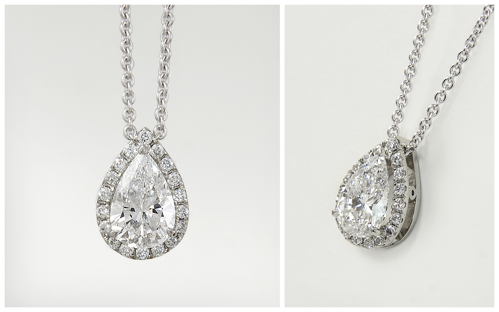 14KW Pear Diamond Pendant