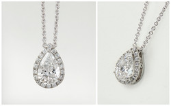 14KW Pear Diamond Pendant